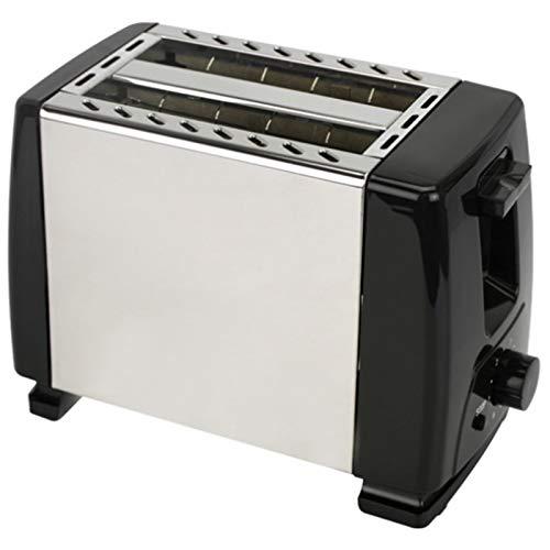 Tostadora automática, tostadora con 2 veces de ancho de ancho para discos de hasta 4x, 6x pasos de seda con rollo caliente para croissants, panecillos Tostador Plano (Color : Black)