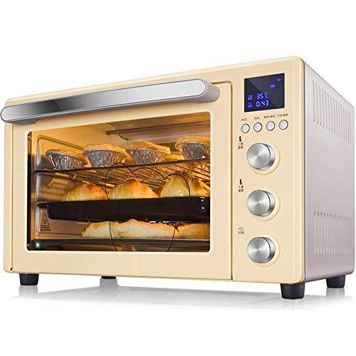 horno Horno de ciclo térmico 3D - Turbo de 1600 vatios Turbo, cocina tostadora de Rotisserie con parrilla, estante superior de planchas, placas duales, tostadora, bandeja for hornear, brochetas y asas