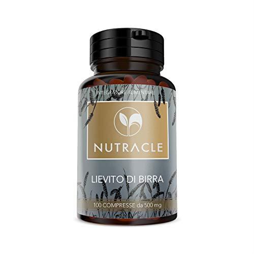 NUTRACLE LEVURE DE BIÈRE 500 mg. 100 comprimés - Reconstituant pour les cheveux et la peau. Riche en oligo-éléments et Vitamines du groupe B