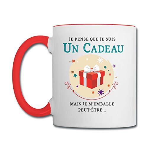 Je Suis Un Cadeau Blague Mug bicolore, blanc/rouge
