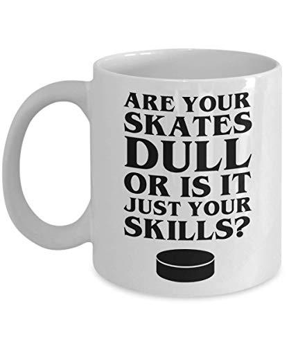 Funny Cups – Sassy Dull Skate Skills – Eishockey Kaffeetasse (313 ml, weiß)