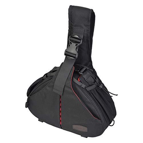 Mumuj Caden K1 - Bolso Bandolera para cámara réflex Digital (Resistente al Agua, para Canon, Nikon, Sony), Color Negro