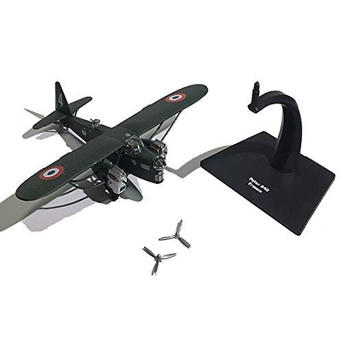 WZRY Modelo de avión, Bombardero francés Potez 540, con Tren de Aterrizaje, Modelo Militar de Combate de Metal, Modelo de avión Militar, para colección Conmemorativa o decoración del hogar
