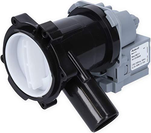 ASKOLL Laugenpumpe/Abwasserpumpe für verschiedene Waschmaschinen Bosch Siemens Constructa geeignet - wie 00145787, auch passend für Quelle, Privileg, Matura (02200293)