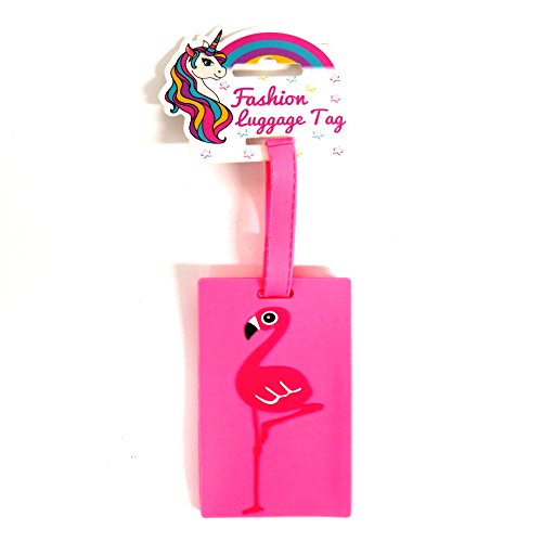 RSW Girls 3D Fashion Luggage and Bag Tags - Pink Flamingo