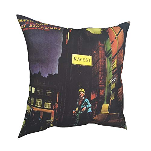 RuiShuoPiCao Christmas Decorations Sale Cushion Cover Home Decor Xmas For Home Christmas Ornaments Party Gifts David Bowie The Rise