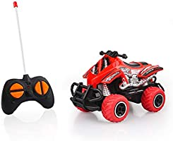 Remote-Controlled Model Motorcycle Quad Control Car Off Road High Speed Motorcycle Christmas Birthday Gift for Kid Red