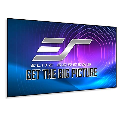 Elite Screens Aeon Series, 120-inch 16:9, 8K / 4K Ultra HD Home Theater Fixed Frame EDGE FREE Borderless Projector Screen, CineGrey Matte Grey Front Projection Screen, AR120H2, white