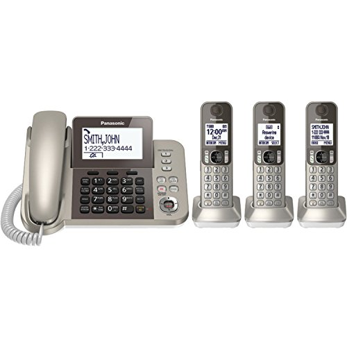 Panasonic KXTGF353N Dect 3-Handset Landline Telephone (Renewed)