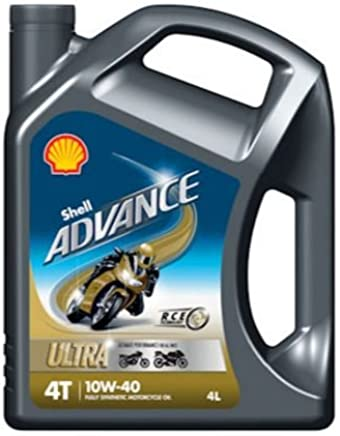 Shell 550027077 Advance Ultra 10W Motorcycle Engine Oil