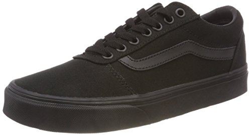 Vans Herren Ward Sneakers, Schwarz (Canvas) Black 186, 43 EU