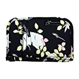 Sugar Medical Diabetes Supplies Case, Storage Bag for Glucose Meter, Test Strips, Lancet, Insulin, Insulin Pens and Other Diabetic Supplies (Black Floral)