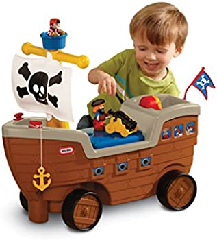 Little Tikes 2-in-1 Pirate Ship Ride-On Toy and Playset