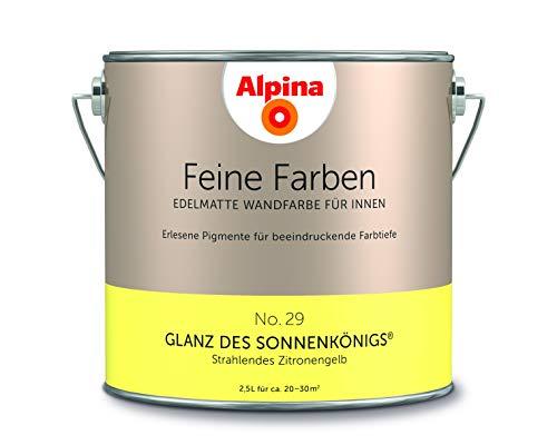 Alpina 2,5 L. Feine Farben, Farbwahl, Edelmatte Wandfarbe für Innen (No.29 Glanz des Sonnenkönigs -