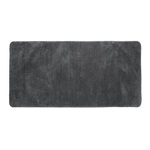 Sealskin Angora, Tapis de Bain, Polyester, 70 x 140 cm, Gris