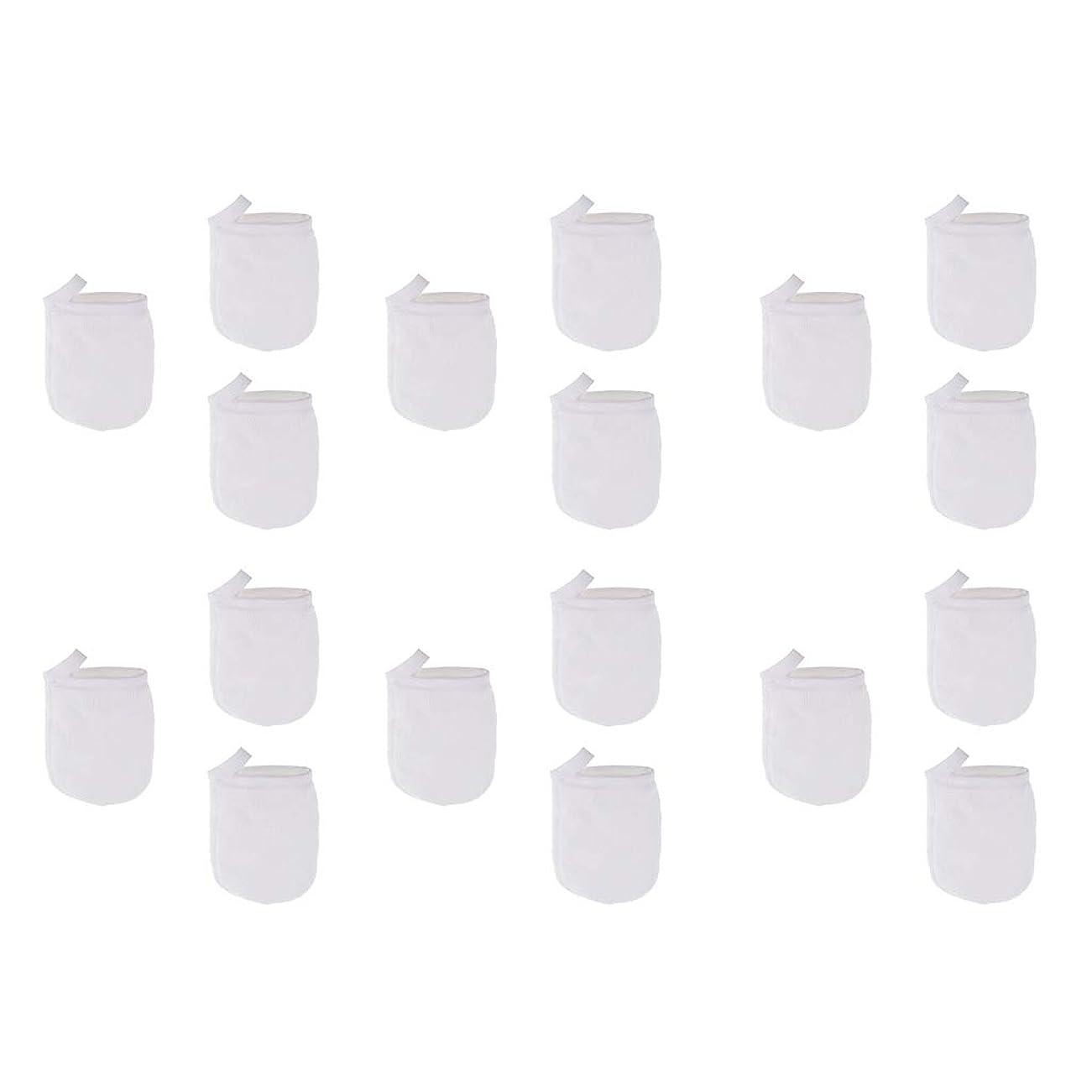 注釈を付ける香港ショッピングセンターT TOOYFUL 洗顔手袋 洗顔グローブ クレンジンググローブ メイク落とし手袋 マイクロファイバー 約18個パック