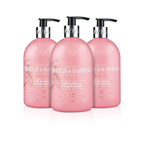Baylis & Harding Rosa Magnolien- und Birnenblüte Handwäsche, 500 ml, 3 Pack