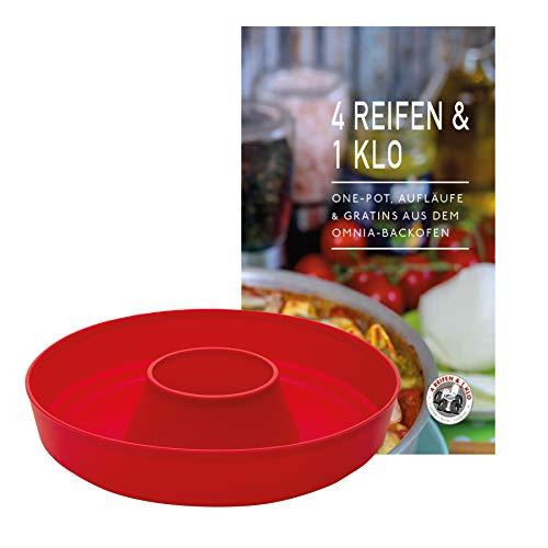 4 Reifen 1 Klo Omnia Silikonform 2-teiliges Spar-Set | Omnia Silikonform 2.0 + One-Pot, Aufläufe & Gratins Kochbuch