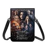 Game Thrones TV Show Crossbody Bolsos ligeros y pequeños pasaportes de piel para mujer, bolsa de playa de viaje