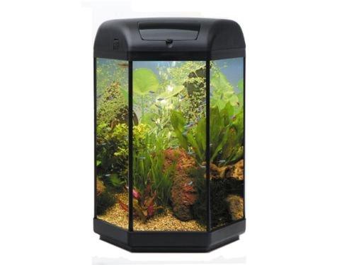 Aquael Aquarium Komplettset Hexa Set II 60 L, schwarz