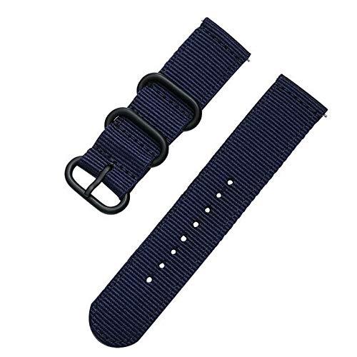 ZAALFC Correa deportiva de tela de nailon de 18 mm, 20 mm, 22 mm, 24 mm, para Samsung Galaxy Watch Band Gear S3, Amazfit GTR GTS para Huawei Watch (color de la correa: azul, ancho de la correa: 24 mm)