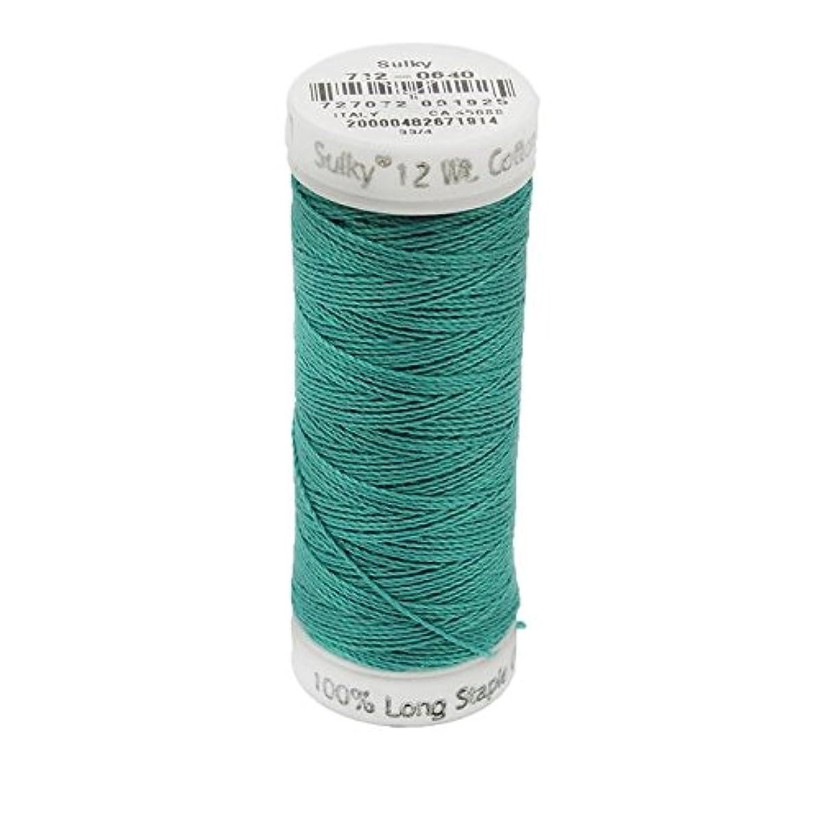 Sulky Of America 12wt Cotton Petites Thread, 50 yd, Medium Aqua