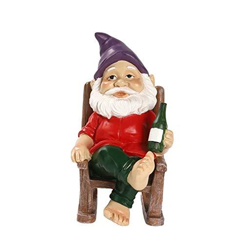 lwxsyusqduzhjo, Ornamenti da Giardino di Natale con Nani con Le Zampe Famiglia di Artigianato in Resina da Giardino dei Cartoni Animati, Ornamenti Nani