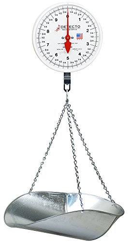 Detecto MCS-40P Hanging Dial Scale, 40 lb. Capacity, Scoop