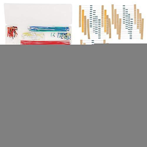 Categoría Completa Breadboard Kit de Inicio de componentes electrónicos Plástico ABS Transparente Introducción Gran cantidad para entusiastas de la electrónica de Bricolaje de Nivel básico