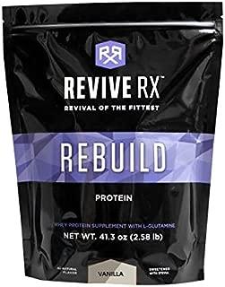 Revive Rx Rebuild Whey Protein Isolate and L-Glutamine Bulk 2.45lbs (Vanilla)