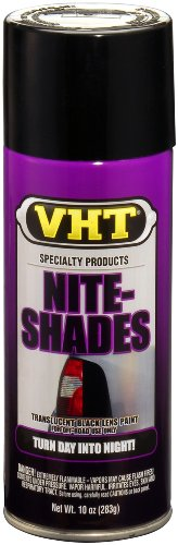 VHT SP999 Nite-Shades Lens Cover Tint Translucent Black Paint Can - 10 oz.