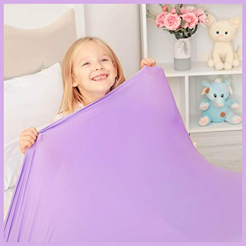 Sensory Compression Blanket | Lycra Bed Sheet for Kids & Adults | Deep Relaxing Feeling, Release Oxytocin | Helps with: SDP, Anxiety, ADHD, Autism and More | Breathable, Cool & Strechable | Twin Size