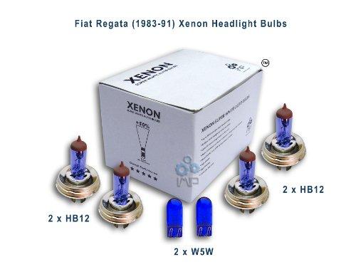 Fiat Regata (1983-91) Xenon Headlight Bulbs HB12, HB12, W5W