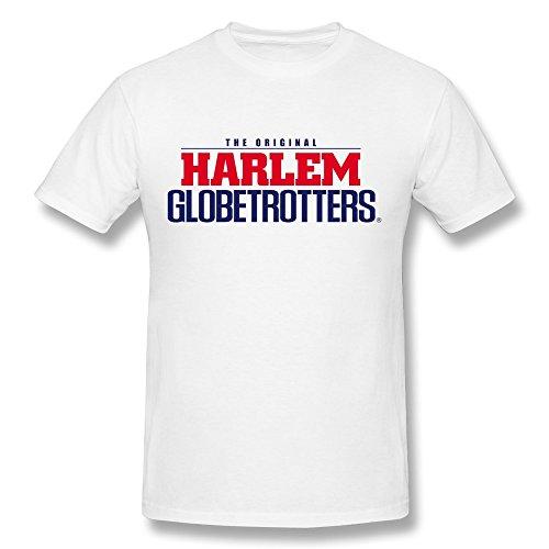 Elma Ellen Harlem Globetrotters Logo T Shirt For Men White XXXX-L