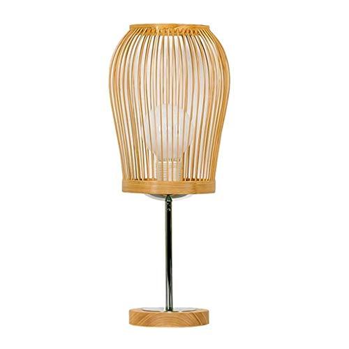 SPNEC Lámpara de Mesa - Moderna Minimalista de bambú Dormitorio Mesita de luz de la lámpara de IKEA Jardín Eye Study lámpara de la Sala de Estar decoración de la Tabla de la lámpara