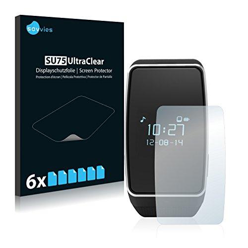 Savvies 6X Schutzfolie kompatibel mit MyKronoz ZeWatch 3 Bildschirmschutz-Folie Ultra-transparent