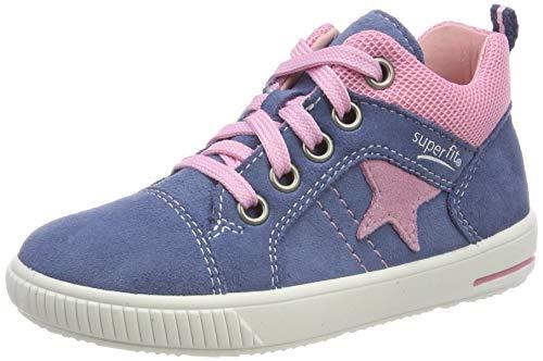 Superfit Baby Mädchen Moppy Sneaker, Blau (Blau 81), 26 EU