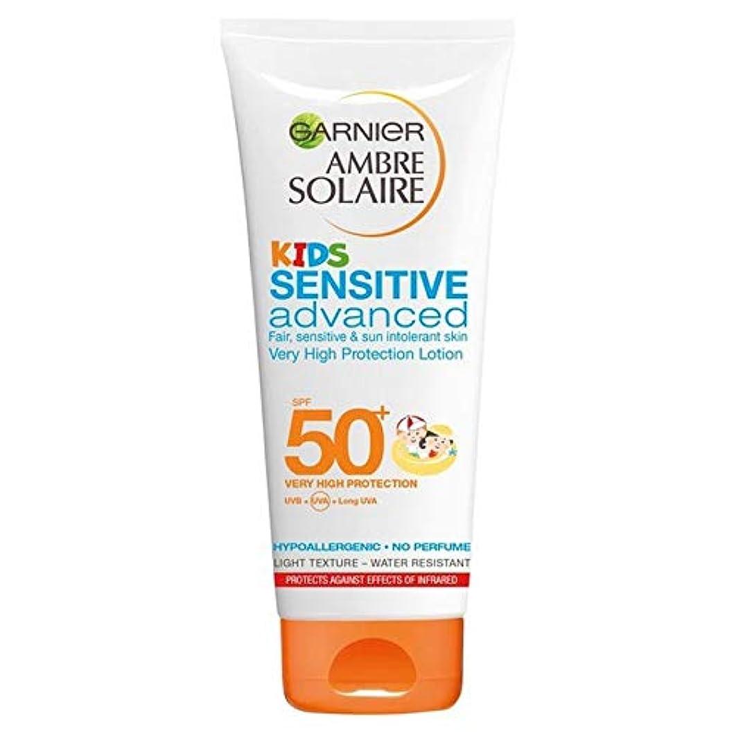 バウンス任命類推[Garnier ] アンブレSolaire子供敏感日クリームローションSpf50 + 200ミリリットル - Ambre Solaire Kids Sensitive Sun Cream Lotion SPF50+ 200ml [並行輸入品]
