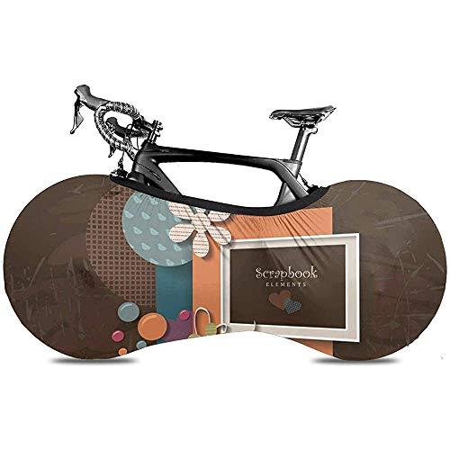 Covercat Fahrrad Radabdeckung, Fahrrad Aufbewahrungstasche, Fahrradabdeckung - Jubiläum Buntes Album Framework Glückwunsch Design Sie Text Grafik Schön