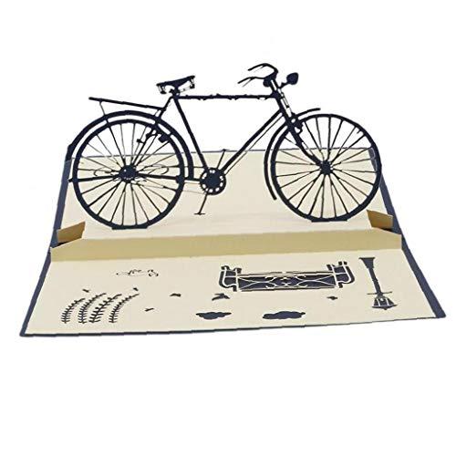 Hotaden 3D-Postkarte Geburtstags-Grußkarten für Liebhaber Up Handgemachte Cut Vintage Karten Weinlese-Fahrrad-kreative Geschenke
