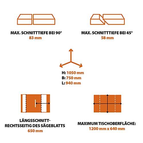 Evolution Power Tools Tischkreissäge