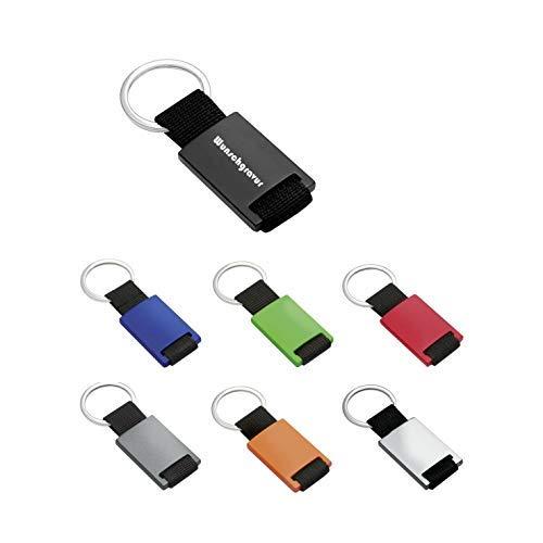 Porte-clefs en Aluminium/Polyester. Gravure/gravé Grand Choix de Couleurs - Vert, 85x32x7 mm