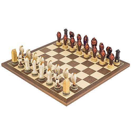 The Regency Chess Company Ltd The Napoleone vs RUSSI dipinto a mano Tema Set di scacchi da ITALFAMA