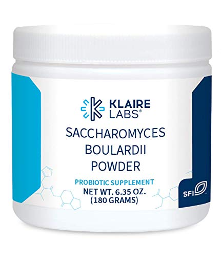 Klaire Labs Pure Saccharomyces Boulardii Powder - Probiotic Supplement to Support Healthy Yeast Balance - Digestive + Immune Support - Hypoallergenic - Double Scoop for Kids & Adults (180g / 6.35oz)
