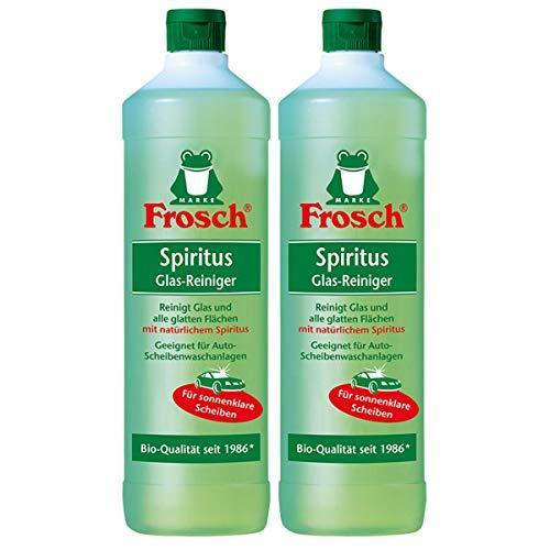 2x Frosch Spiritus Glas-Reiniger 1 Liter