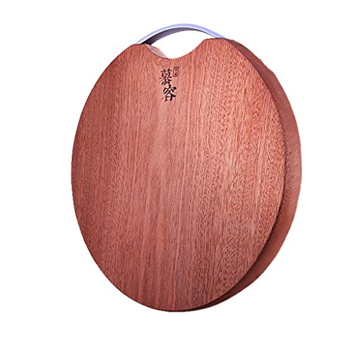 Práctica tabla de cortar antibacteriana de madera redonda antibacteriana para todo el hogar, cocina y madera, tabla de cortar (tamaño: 35 x 35 cm)