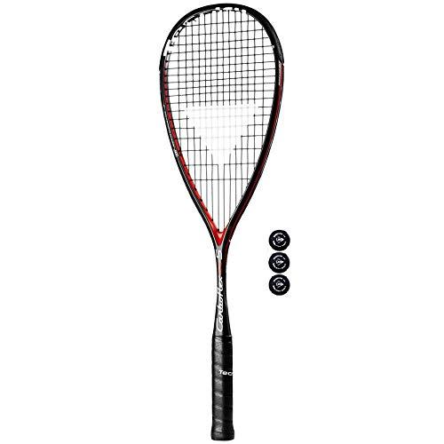 Tecnifibre Carboflex 125 S Squashschläger + Dunlop Pro Squash Bälle 3, 6 or 12 - 3 Balls