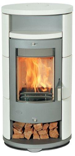 Fireplace Kaminofen Alicante Keramik beige drehbar 47x60x116