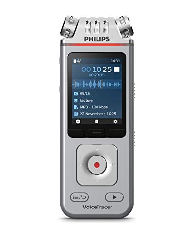 Philips VoiceTracer DVT4110, Registratore audio, Per conferenze e interviste, 3 microfoni ad alta fedeltà