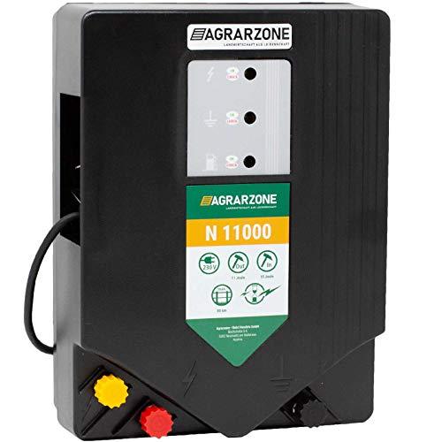 Agrarzone N11000 Weidezaungerät 230V, 15 Joule | Elektrozaungerät mit Strom für Weidezaun | Weidegerät für Einsatz auf Weide | Optimale Hütesicherheit | Für robuste Tiere & Wildschweinabwehr
